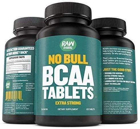 4. BCAA Tablets by Raw Barrel
