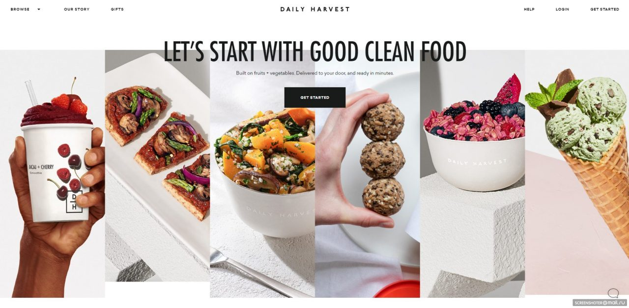 daily harvest delivery service website