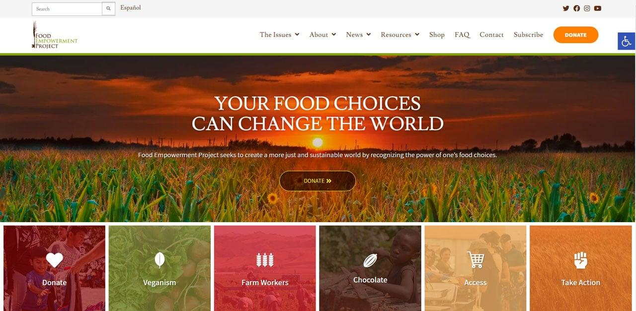 Food Empower Charity Website