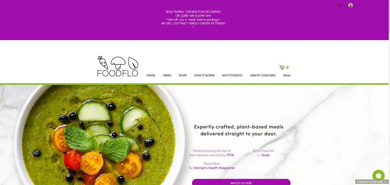 foodflo delivery service website
