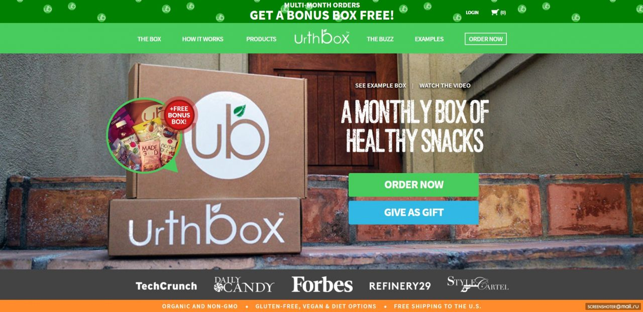 urthbox delivery service website
