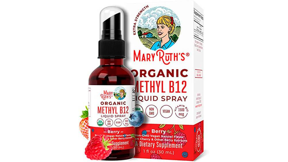 USDA Organic Vitamin B12 (Methyl) Liquid Spray by MaryRuth's