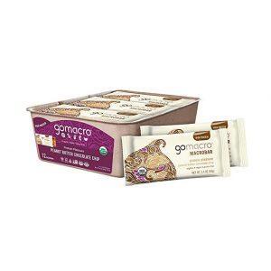 GoMacro MacroBar Organic Vegan Protein Bars - Peanut Butter Chocolate Chip