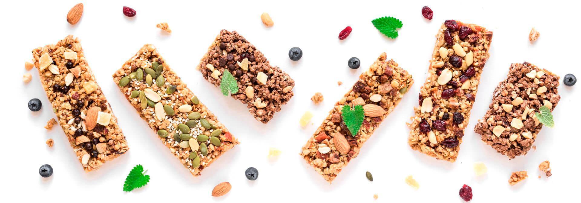 Homemade healthy snack-granola vegan protein bars